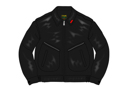 Supreme Schott Leather Work Jacket (SS21) Blackの写真
