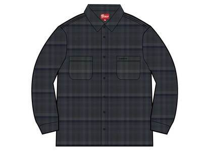 Supreme Plaid Flannel Shirt (SS21) Blackの写真