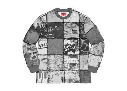 Supreme Mosaic Patchwork L/S Top Blackの写真