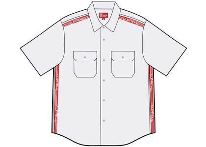 Supreme Logo Rib S/S Work Shirt Whiteの写真