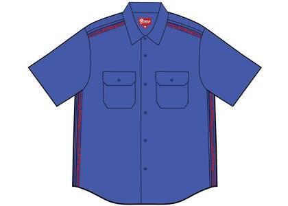 Supreme Logo Rib S/S Work Shirt Dusty Royalの写真