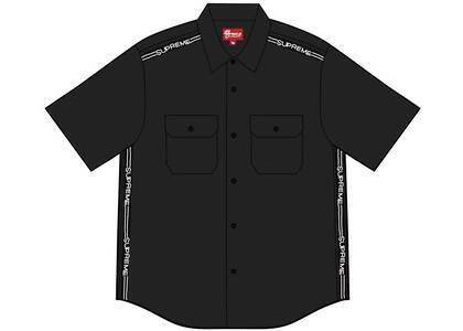 Supreme Logo Rib S/S Work Shirt Blackの写真
