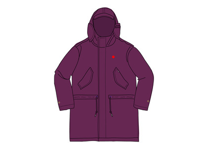 Supreme Hooded Facemask Parka Dark Purpleの写真