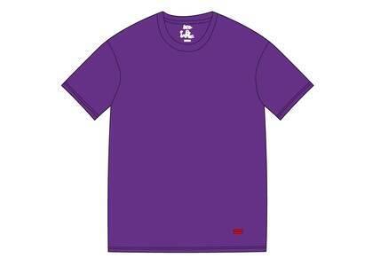 Supreme Hanes Tagless Tees (2 Pack) Purpleの写真