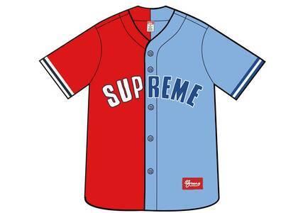 Supreme Don't Hate Baseball Jersey Redの写真