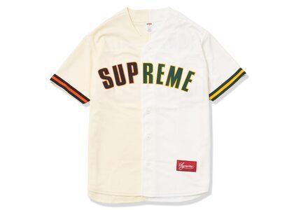 Supreme Don't Hate Baseball Jersey Naturalの写真