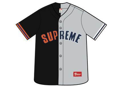 Supreme Don't Hate Baseball Jersey Blackの写真