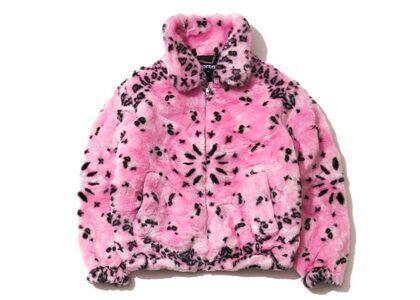Supreme Bandana Faux Fur Bomber Jacket Pinkの写真