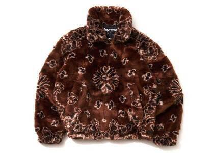 Supreme Bandana Faux Fur Bomber Jacket Brownの写真