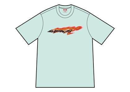 Supreme Wind Tee Pale Aquaの写真