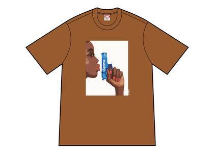 Supreme Water Pistol Tee Brownの写真