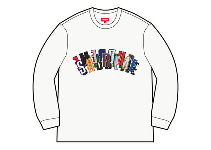 Supreme Stacked Crewneck Whiteの写真