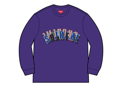 Supreme Stacked Crewneck Purpleの写真