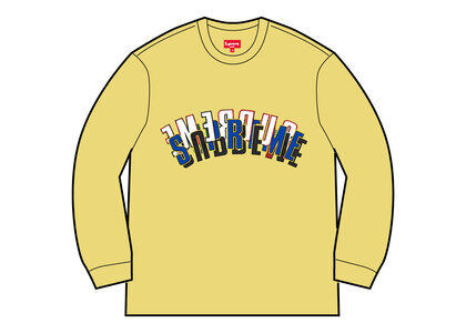 Supreme Stacked Crewneck Light Lemonの写真