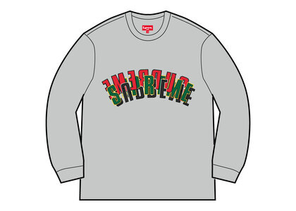 Supreme Stacked Crewneck Heather Greyの写真