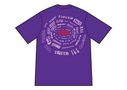 Supreme Spiral Tee Purpleの写真