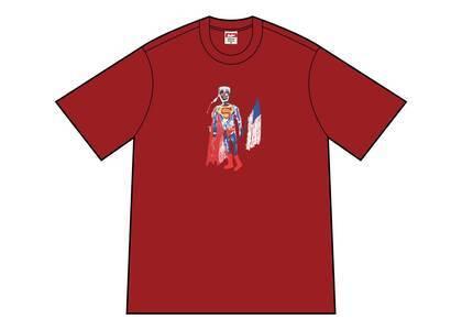 Supreme Skeleton Tee Cardinalの写真