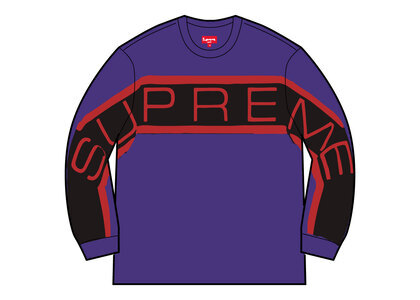 Supreme Paneled Crewneck (SS21) Purpleの写真