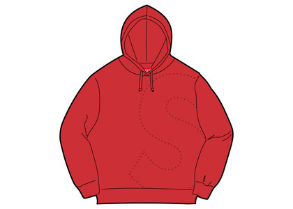 Supreme Laser Cut S Logo Hooded Sweatshirt Redの写真