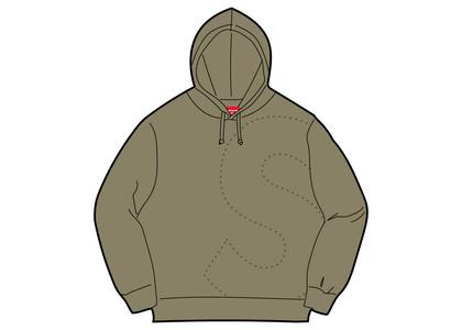 Supreme Laser Cut S Logo Hooded Sweatshirt Light Oliveの写真