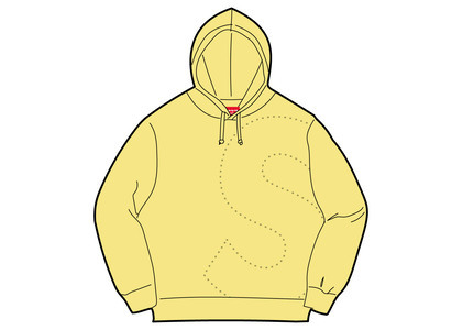 Supreme Laser Cut S Logo Hooded Sweatshirt Light Lemonの写真