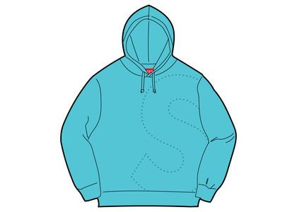 Supreme Laser Cut S Logo Hooded Sweatshirt Cyanの写真