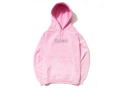 Supreme KAWS Chalk Logo Hooded Sweatshirt Light Pinkの写真