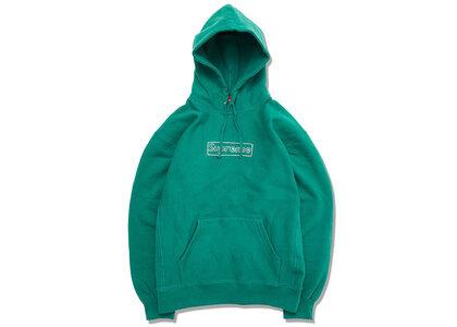 Supreme KAWS Chalk Logo Hooded Sweatshirt Light Pineの写真