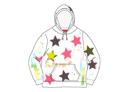 Supreme Gonz Stars Hooded Sweatshirt Whiteの写真