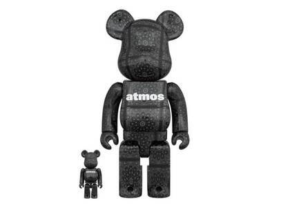 Atmos × Be@rbrick Bandana Black 100% & 400% の写真