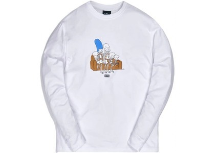 Kith x The Simpsons Couch L/S Tee Whiteの写真
