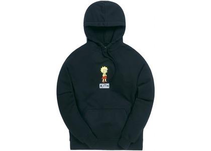 Kith x The Simpsons Lisa Logo Hoodie Blackの写真
