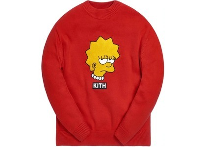 Kith x The Simpsons Lisa Intarsia Sweater Redの写真