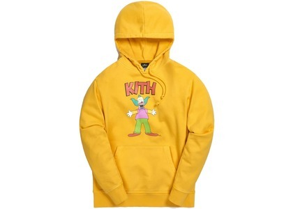Kith x The Simpsons Krusty Hoodie Yellowの写真