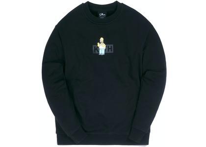 Kith x The Simpsons Homer Box Logo Crewneck Blackの写真