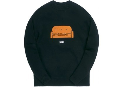 Kith x The Simpsons Couch Intarsia Sweater Blackの写真