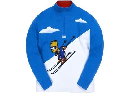 Kith x The Simpsons Bart Quarter Zip Ski Sweater Blue/Multiの写真