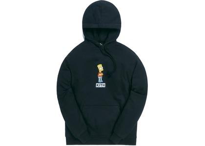 Kith x The Simpsons Bart Logo Hoodie Blackの写真