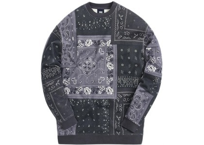 Kith Deconstructed Bandana Crewneck Blackの写真