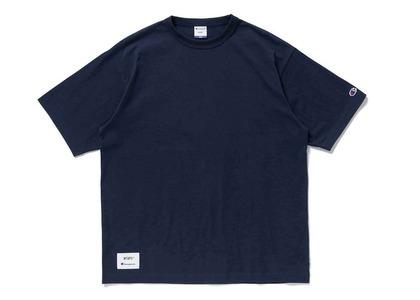 Wtaps × Champion Short Sleeve T-Shirt Navyの写真