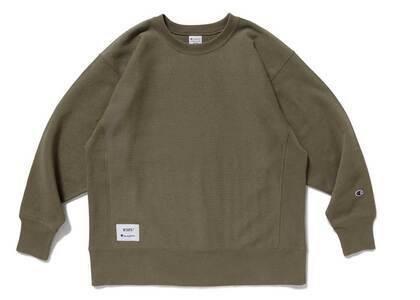 Wtaps × Champion Reverse Weave Crew Neck Sweatshirt Oliveの写真