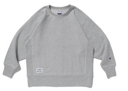 Wtaps × Champion Reverse Weave Crew Neck Sweatshirt Greyの写真