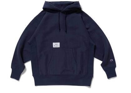 Wtaps × Champion Reverse Weave Hooded Sweatshirt Navyの写真