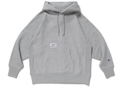 Wtaps × Champion Reverse Weave Hooded Sweatshirt Greyの写真