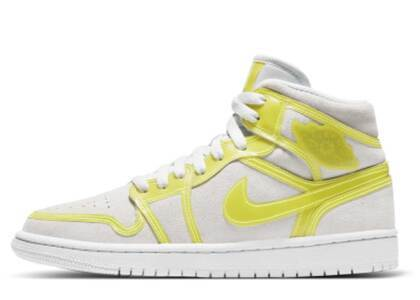 Nike Air Jordan 1 Mid LX Opti Yellow Womensの写真