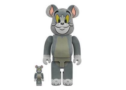 Tom And Jerry × Be@rbrick Tom Flocky Ver. 100% & 400%の写真