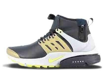 Nike Air Presto Mid Utility Black Yellow Streakの写真