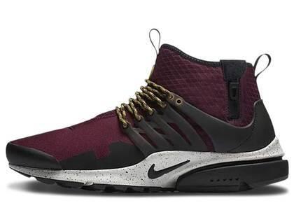 Nike Air Presto Mid Utility Bordeauxの写真