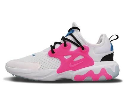 Nike React Presto White Hyper Pink Photo Blue GSの写真