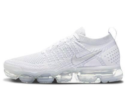 Nike Air VaporMax Flyknit 2 White Vast Grey Womensの写真